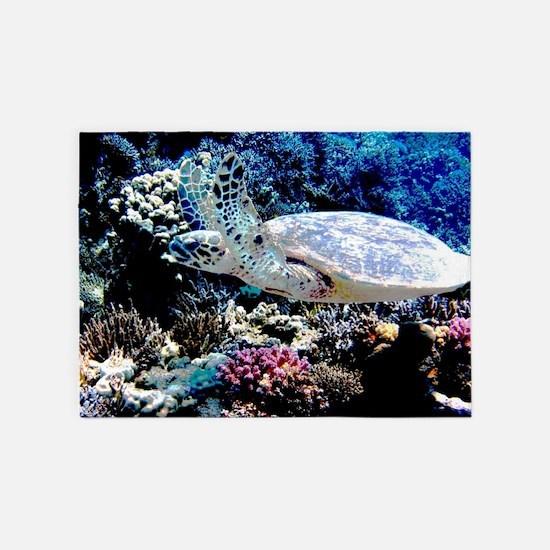Sea Turtle 5'x7'Area Rug