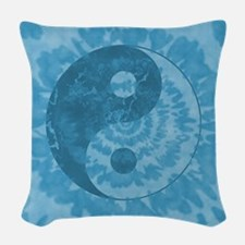 Tie Dye Yin Yang Symbol Woven Throw Pillow