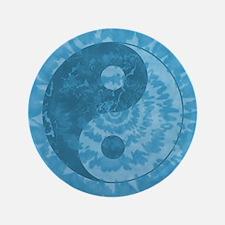 """Tie Dye Yin Yang Symbol 3.5"""" Button"""