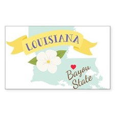 Louisiana Bayou State Outline Magnolia Flower Stic