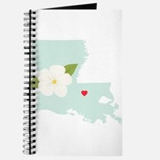 Louisiana State Outline Magnolia Flower Journal