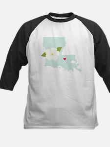 Louisiana State Outline Magnolia Flower Baseball J