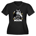 Smalley Family Crest Women's Plus Size V-Neck Dar