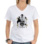Smalley Family Crest  Women's V-Neck T-Shirt