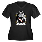 Small Family Crest Women's Plus Size V-Neck Dark T