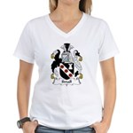 Small Family Crest Women's V-Neck T-Shirt