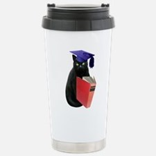Black Cat Grad Travel Mug