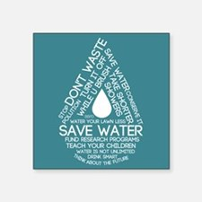Save Water Sticker
