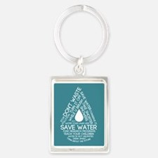 Save Water Keychains