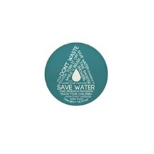 Save Water Mini Button