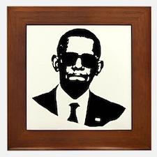Shady Obama Framed Tile