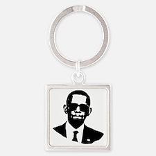 Shady Obama Square Keychain