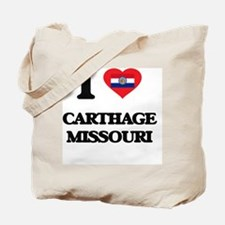I love Carthage Missouri Tote Bag