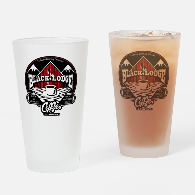 Black Lodge Coffee Company Drinking Glass