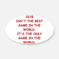 Cute 221b Oval Car Magnet