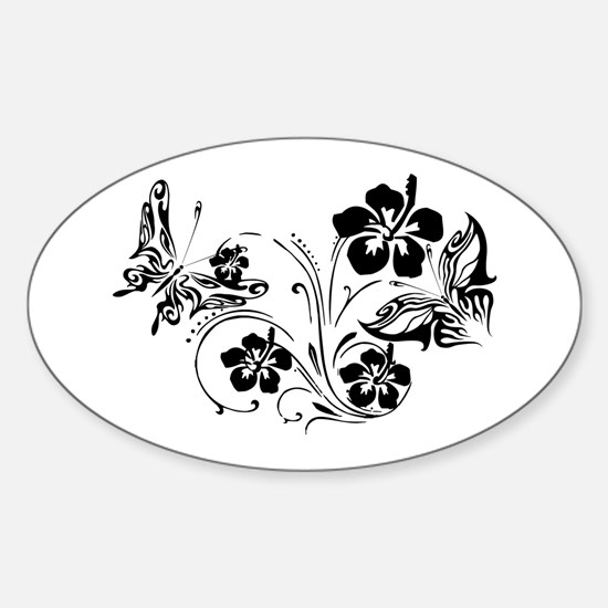 FLOWERS & BF 10/17 Oval Decal
