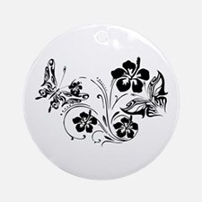 FLOWERS & BF 10/17 Ornament (Round)