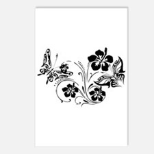 FLOWERS & BF 10/17 Postcards (Package of 8)