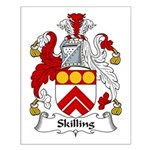Skilling Family Crest Small Poster