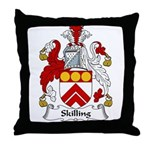 Skilling Family Crest Throw Pillow