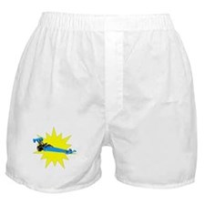Blue Dragster Boxer Shorts