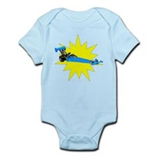Blue Dragster Body Suit