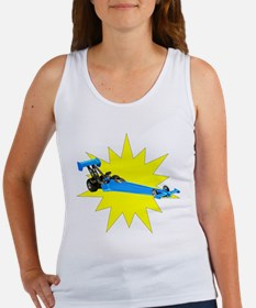 Blue Dragster Tank Top