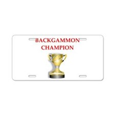 backgammon joke Aluminum License Plate