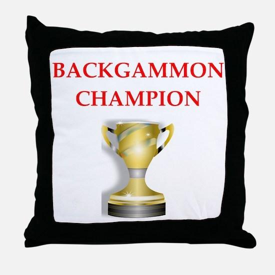 backgammon joke Throw Pillow