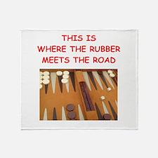 backgammon joke Throw Blanket