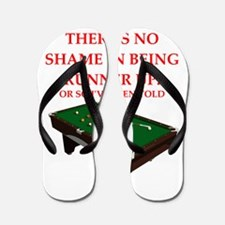 billiards joke Flip Flops