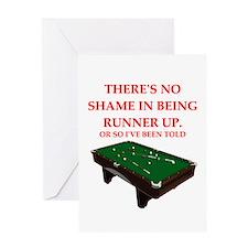 billiards joke Greeting Cards