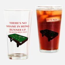 billiards joke Drinking Glass