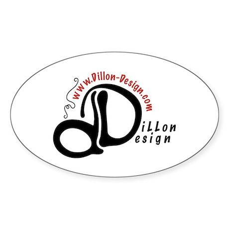 Dillon Design Oval Sticker