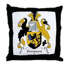Simpson Family Crest Throw Pillow