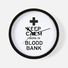 Keep Calm Blood Bank Wall Clock