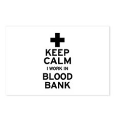 Keep Calm Blood Bank Postcards (Package of 8)