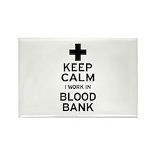 Keep Calm Blood Bank Magnets