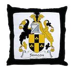 Simeon Family Crest Throw Pillow