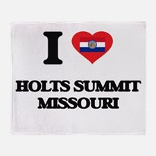 I love Holts Summit Missouri Throw Blanket
