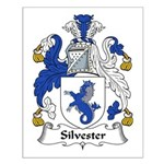 Silvester Family Crest Small Poster