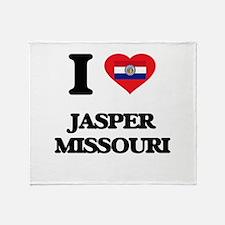 I love Jasper Missouri Throw Blanket