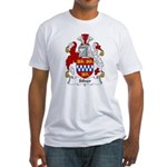 Silver Family Crest Fitted T-Shirt