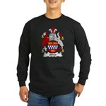 Silver Family Crest Long Sleeve Dark T-Shirt