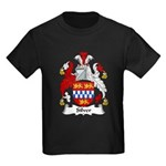 Silver Family Crest Kids Dark T-Shirt