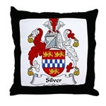 Silver Family Crest Throw Pillow