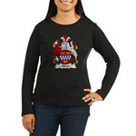 Silver Family Crest Women's Long Sleeve Dark T-Shi