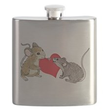 Two Mice in Love Flask