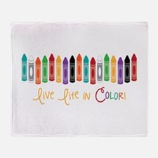 Live In Color Throw Blanket