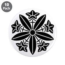 "Koga gentian wheel 3.5"" Button (10 pack)"